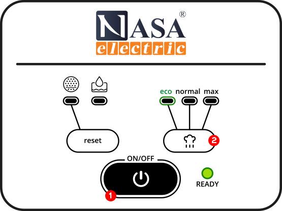 روشن کردن اتو بخار مخزن دار ناسا الکتریک ns-57